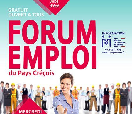 Forum emploi du Pays Créçois : 20 mars