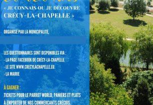 Jeu-concours « Je connais ou je découvre Crécy-la-Chapelle »